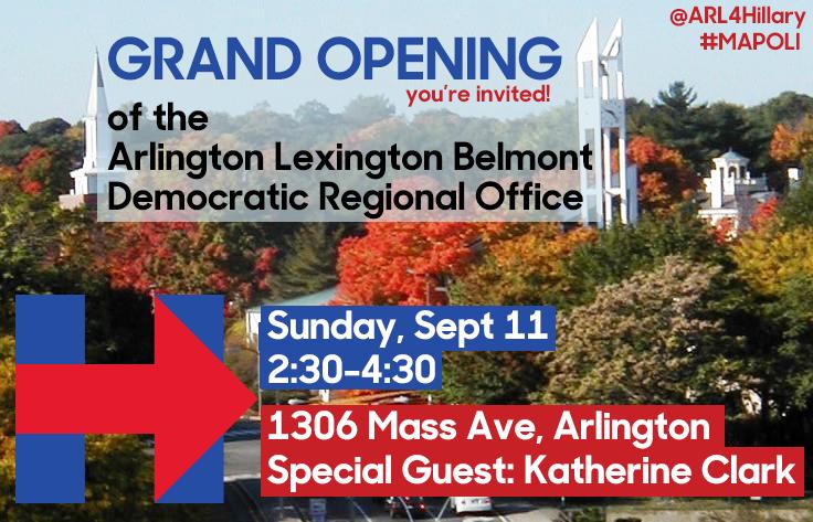 Arlington Lexington Belmont Democratic Regional Office Graphic Design