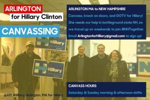 Arlington to NH Canvassing Social Media Campaign